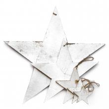 """Holzsterne """"WHITE STAR"""""""