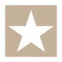 """PAPIER-SERVIETTE """"Star"""", sand"""