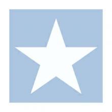 "PAPER NAPKIN ""Star"", light blue"