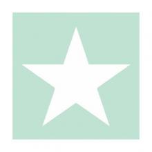 "PAPER NAPKIN ""Star"", aqua"