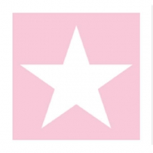 "PAPER NAPKIN ""Star"", pink"