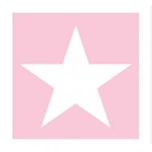 "PAPIER-SERVIETTE ""Star"", rosa"