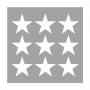 "PAPIER-SERVIETTE ""Stars"", grau"