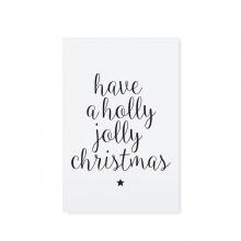 "CARTE POSTALE ""HAVE A HOLLY JOLLY CHRISTMAS"""