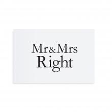 """POSTCARD """"MR&MRS RIGHT"""""""