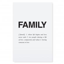 "POSTCARD ""FAMILY"""