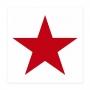 """PAPIER-SERVIETTE """"Star"""", white-red"""