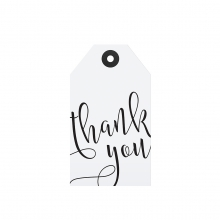 """GIFT TAG """"THANK YOU"""""""