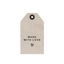 """GIFT TAG """"MADE WITH LOVE"""""""