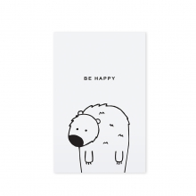 "POSTCARD ""BE HAPPY"""