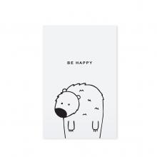 "POSTCARD ""BE HAPPY"""