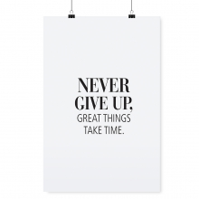 "POSTER ""NEVER GIVE UP"""