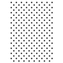 "WRAPPING PAPER ""BLACK FLOWER PATTERN"""