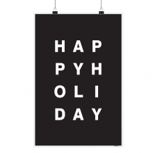 "POSTER ""HAPPY HOLIDAY"""