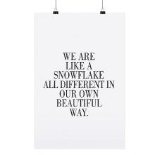 "POSTER ""SNOWFLAKE"""