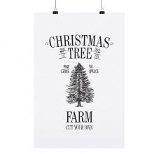 """POSTER """"CHRISTMAS TREE FARM"""""""