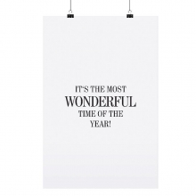 "POSTER ""IT`S THE MOST WONDERFUL"""