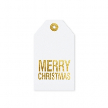 "GIFT TAG ""MERRY CHRISTMAS ""white"