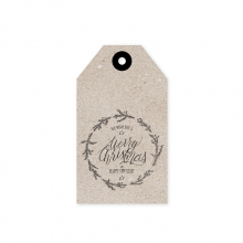 "GIFT TAG ""WE WISH YOU A MERRY"""