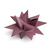 "3D CHRISTMAS STAR SET ""BERRY"""