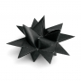 "3D CHRISTMAS STAR SET ""BLACK"""