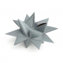 "3D CHRISTMAS STAR SET ""GREY"""