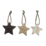 "HANGING STARS WOODEN ""MIX"""