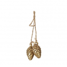 "HANGING PINE CONE "" GOLD"""