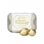 "MILK CHOCOLATE EGGS ""WHITE/GOLD"""
