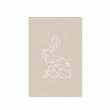 "POSTCARD ""RABBIT"""