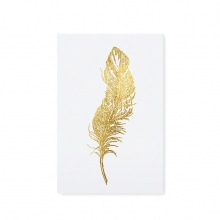 "POSTCARD ""GOLDEN FEATHER"""