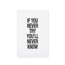 "POSTCARD ""IF YOU NEVER TRY"""