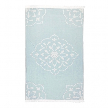 "BEACH TOWEL ORNAMENT ""DUSTY BLUE"""