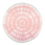 "BEACH TOWEL ROUND ""ROSE"""