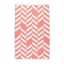 "BEACH TOWEL FISHBONE ""CORAL"""