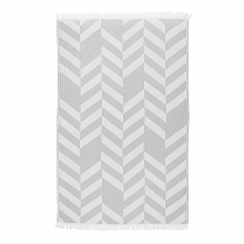 "BEACH TOWEL FISHBONE ""GREY"""