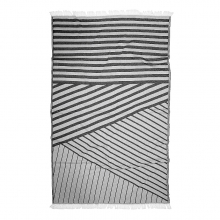"BEACH TOWEL ""BLACK"""