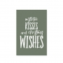 "POSTCARD ""MISTLETOE KISSES"""