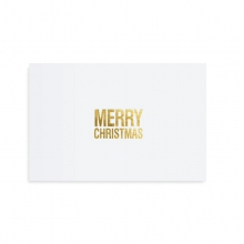 "POSTCARD ""MERRY CHRISTMAS WHITE"""
