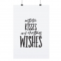 "POSTER "" MISTLETOE KISSES """