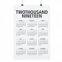 "POSTER ""TWOTHOUSAND NINETEEN"""