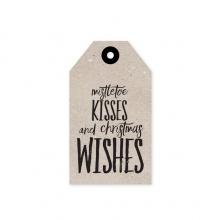 "GIFT TAG ""MISTLETOE KISSES"""