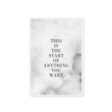 "POSTKARTE ""THIS IS THE START"""