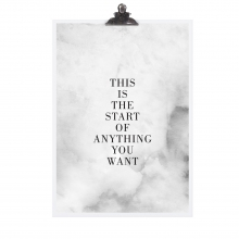 "POSTER ""THIS IS THE START"""