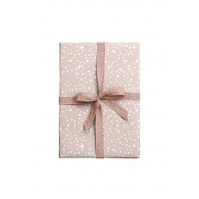 """WRAPPING PAPER """"DOTS"""" rose"""