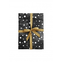 "WRAPPING PAPER ""DOTS"" black"