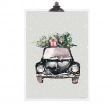 """POSTER """"CHRISTMAS CAR"""""""