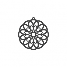 PAPER CUT FLOWER BLACK