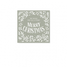 "MINI CARD ""MERRY CHRISTMAS"""