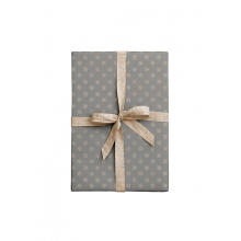 """WRAPPING PAPER """"ORNAMENT BLOSSOM GREY"""""""